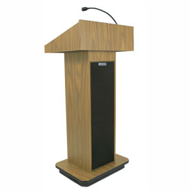 Executive Sound Column Podium / Lectern- Light Oak
