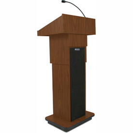 Executive Adjustable Height Podium / Lectern - Mahogany