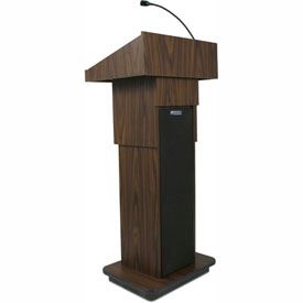 Executive Adjustable Height Podium / Lectern - Walnut