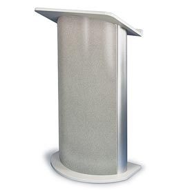 Gray Granite Contemporary Curved Podium / Lectern