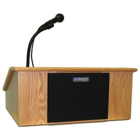 Victoria Solid Hardwood Tabletop Podium / Lectern - Oak