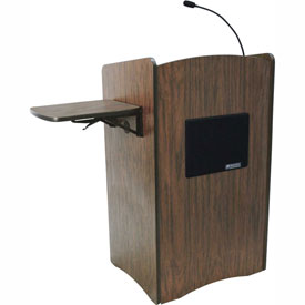 Multimedia Computer Podium / Lectern - Walnut