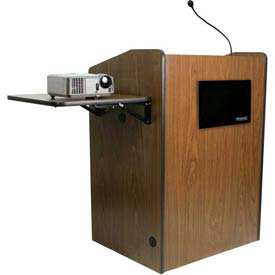 Multimedia Presentation Plus Podium With Sound - Walnut