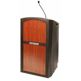 Sound Ready Pinnacle Full Height Podium / Lectern - Cherry
