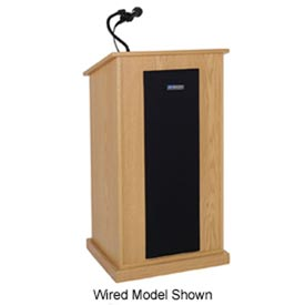 Wireless Chancellor Sound Podium / Lectern - Oak