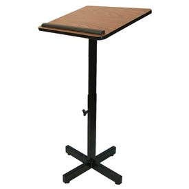 Xpediter Adjustable Podium / Lectern Stand - Walnut