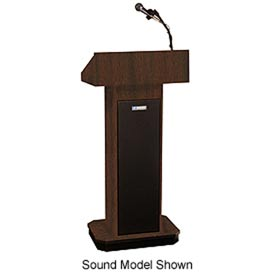 Executive Adjustable non-sound Column Podium / Lectern - Walnut
