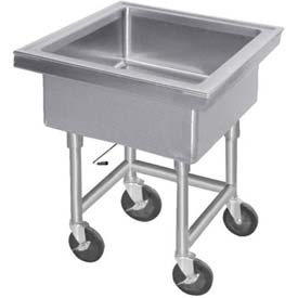 "Mobile Soak Sink, 12"" Deep Bowl, 34"" Overall Height"