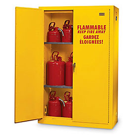 "Ulc-Listed Flammable Liquid Safety Cabinet - 44X19X45"" - 30-Gallon Capacity"