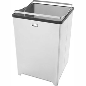 Rubbermaid® 10-1/2 Gallon Stainless Steel Open Top Trash Can, FGB1414SSPL