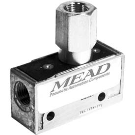 "Bimba-Mead Air Valve MV-60, 3 Port, 2 Pos, Air Pilot Valve, 1/8"" NPTF Port, Sngl Pressure Actr"