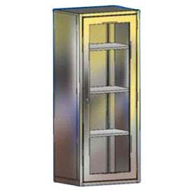 "Blickman MS24 Miscellaneous Supply Cabinet with Glass Door, 3 Shelves, 24-1/8""W x 18""D x 60""H"