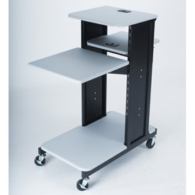 "Balt® 27521 Xtra Long Presentation Cart, 40-3/4""H x 18-1/2""W x 30""D, Gray"