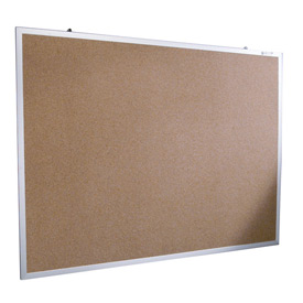 "Balt® Natural Cork Tackboard - Aluminum Trim - 24""W x 18""H"