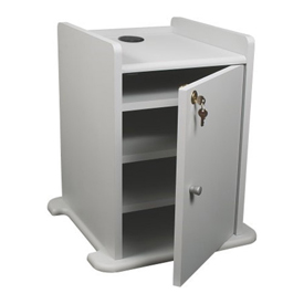 Optional Gray Cabinet for Balt® Xtra Long Gray Presentation Cart