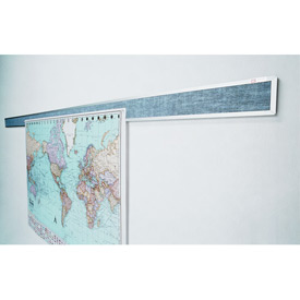 "Balt® Tackboard Display Rails - 144""W x 3""H"