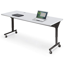 "Balt® 89862 Brawny Mobile Table, 25-1/2""- 33-1/2""H x 72""W x 30""D, Gray"