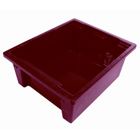 Balt TUBS-6 Plastic Tubs - Set of 6 (3 Red, 3 Blue)