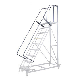 "44""H CAL-OSHA Handrail Kit for Extra Heavy Duty Rolling Safety Ladders"