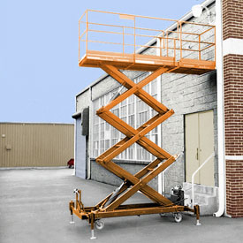 Safety Orange Enamel Paint Finish for Hydraulic-Powered Elevating Platforms