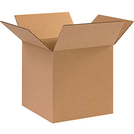 "Cardboard Corrugated Box 10"" x 10"" x 10"" 200lb. Test/ECT-32 - 25 Pack"