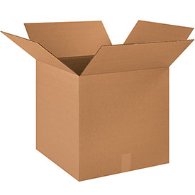 "Cardboard Corrugated Box 18"" x 18"" x 18"" 200lb. Test/ECT-32, Pack of 20"