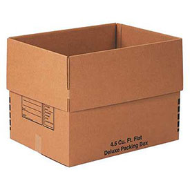 Flat Deluxe Packing Box 4.5 Cu. Ft. 200lb. Test/ECT-32 - 10 Pack
