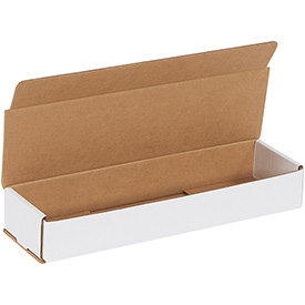 "White Corrugated Mailer 14"" x 4"" x 2"" - 50 Pack"