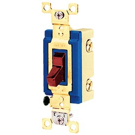 Bryant 4804RED Industrial Grade Toggle Switch, Four Way, 15A, 120/277V AC, Red