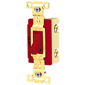 Bryant 4903RED Industrial Grade Toggle Switch, Three Way, 20A, 120/277V AC, Red