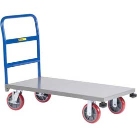 Little Giant® Heavy-Duty Platform Truck with Rolling Corner Bumpers NCB-3672-8PYBK - 36 x 72