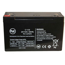 AJC® Carpenter Watchman 713523 6V 10Ah Emergency Light Battery