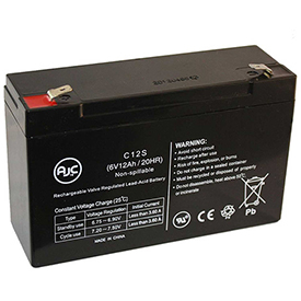 AJC® Power WHEELS 74522 RED 6V 12Ah UPS Battery