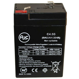 AJC® Blue Sky 3XM4 6V 4.5Ah Sealed Lead Acid Battery