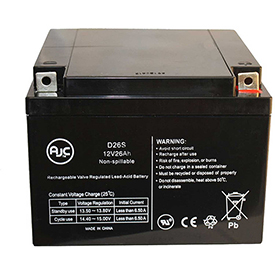 AJC® Hubbell HP121002 12V 26Ah Sealed Lead Acid Battery