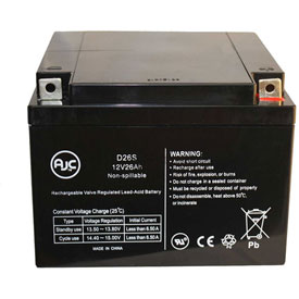 AJC® PowerStar PS12-24D 12V 26Ah Wheelchair Battery