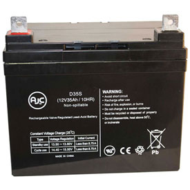 AJC® Ingersol Equipment 108 12V 35Ah Lawn and Garden Battery