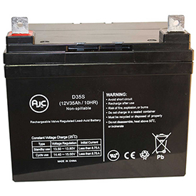 AJC® Dignified Products AGM1234T 12V 35Ah Wheelchair Battery