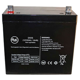 AJC® Carter BROTHERS AGM1265T 12100T SLA 12V 55Ah Wheelchair Battery