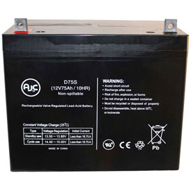 AJC® Westco SVR7512 12V 75Ah Lawn and Garden Battery