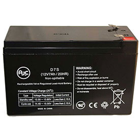 AJC® Kidde 1002310A 12V 7Ah Sealed Lead Acid Battery