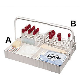 "Bel-Art F18631-0715 The Collector Blood Tray, Complete Set, 14""L x 11-1/2""W x 2""H, 1/PK - Pkg Qty 4"