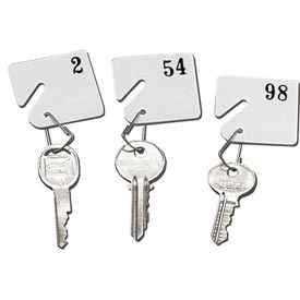 Sandusky Buddy 0031 - Plastic Key Tags Numbers 1 to 30 - White