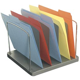 5 Pocket Vertical Desk Tray - Charcoal