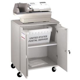 Buddy Products 9142-18 Locking Mail Storage Cart - Gray
