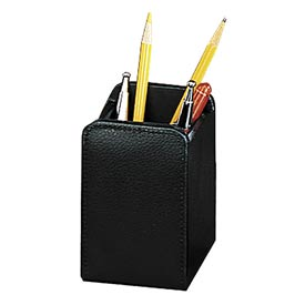 Roma Collection Executive Leather Desk Set - Pencil Cup - Pkg Qty 6