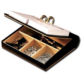 Roma Collection Executive Leather Desk Set - Calendar Holder - Pkg Qty 6