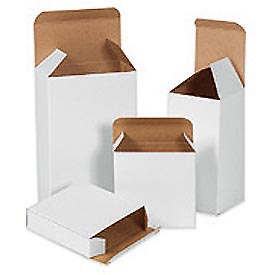 "White Chip Carton 4-1/4"" x 1-1/4"" x 4-1/4"" - 500 Pack"