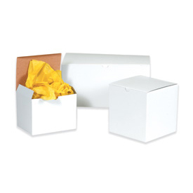 "White Gift Box 4"" x 4"" x 4"" - 100 Pack"