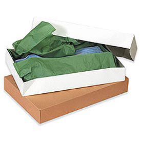"White Apparel Box 19"" x 12"" x 3"" - 50 Pack"